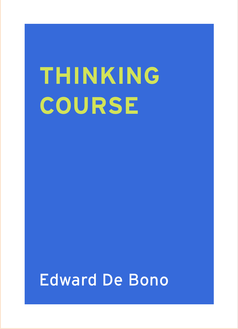 edward de bono thinking course creativity resource